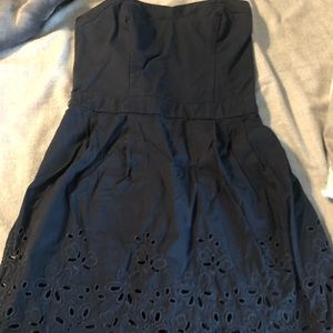 Navy strapless Lace Hollister Dress